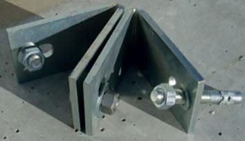 Kit équerre acier galvanisé