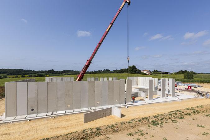 construction mur de stockage béton